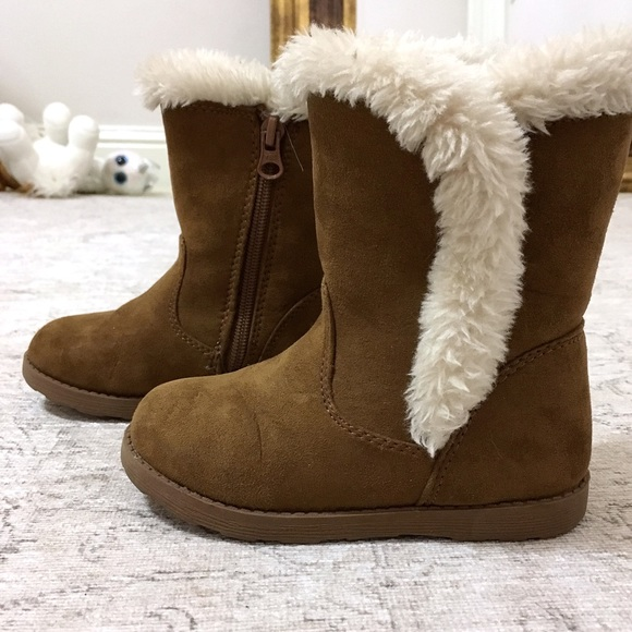 Cat & Jack Other - Cat & Jack Brown Faux Fur Winter Boots